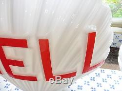 Reedition opaline Shell pour pompe a essence ancienne bidon d huile