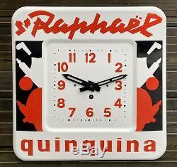 SAINT-RAPHAËL Quinquina Pendule émaillée illustrée par Loupot/ État Superbe