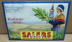 SALERS apéritif à la gentiane ancien glaçoide publicitaire