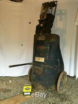 SAMOA rare pompe à essence char romain 1930 Desmarais Fres satam bidon huile