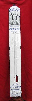 SIROP JANE Thermomètre émaillé ancien PHARMACIE BARATHON / plaque émaillée