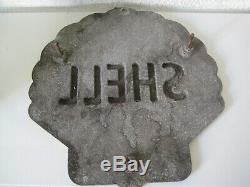 Shell plaque publicitaire
