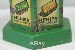 Splendide Kiosque publicitaire chocolat MENIER couleur verte