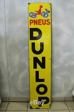 Splendide plaque émaillée DUNLOP PNEU par savignac état superbe EAS