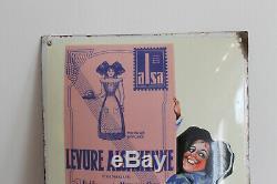 Splendide plaque émaillée levure alsa alsacienne eas strasbourg couleur top ++++