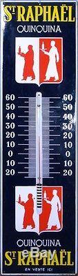 St Raphael Quinquina Plaque Emaillee Thermometre Rare Et En Excellent Condition