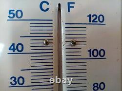Superbe Plaque Emaillée Ancienne Thermomètre Publicitaire VARTA Pile Batterie