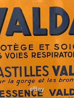 Superbe Plaque Emaillee De La Marque Valda (pastilles Essences) @ Bel Etat