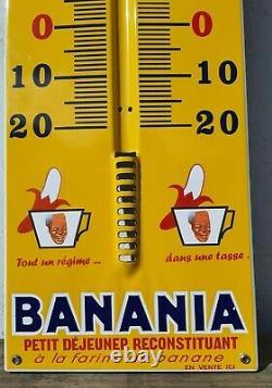 Superbe Replique grand Thermomètre Banania Édition clouet 2004 plaque Émaillée