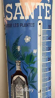 Superbe Thermomètre Plaque émaillée ancien Tisane De Durbon Magnifique