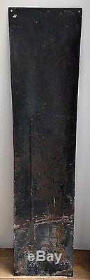 Superbe Thermomètre Plaque émaillée ancien Tisane des Chartreux Durbon