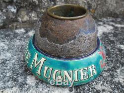 Superbe et rare pyrogène ancienabsinthe Mugnier, émaux de longwy, 1883