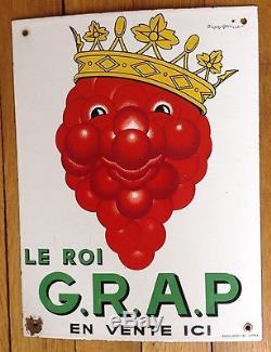 Superbe plaque émaillée LE ROI GRAP d'après BEUVILLE 1947