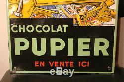 Superbe thermomètre chocolat pupier eas strasbourg état superbe