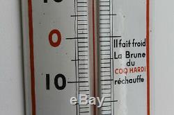 Superbe thermomètre émaillée bière coq hardi superbe état d'origine