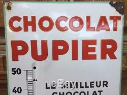 THERMOMETRE CHOCOLAT PUPIER trés bel état non restauré