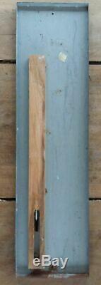 THERMOMETRE ORANGINA Villemot Plaque peinte non émaillée Fonctionne 18x68cm