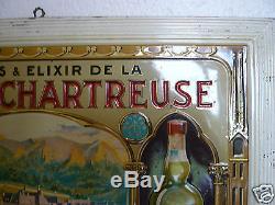 TOLE LITHOGRAPHIEE GAUFREE LIQUEUR & ELIXIR DE LA GRANDE CHARTREUSE
