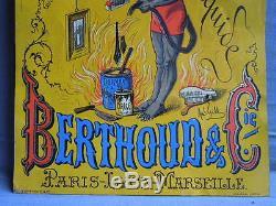 Tole Plaque Publicite Ancienne Cirage Francais Berthoud & Cie
