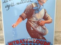 Tres Rare Ancienne Plaque Émaillée Nitrate De Soude Du Chili En Tres Bon Etat