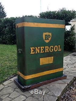 TRES RARE PRESENTOIR A BIDONS D'HUILE BP ENERGOL 1950