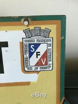 TRES RARE et GRANDE PLAQUE EMAILLEE TRACTEUR SOCIETE FRANCAISE VIERZON