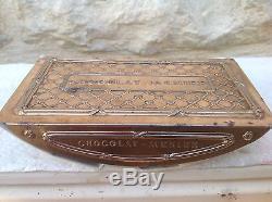 Très Très Rare Ancien Tampon Buvard En Laiton Chocolat Menier