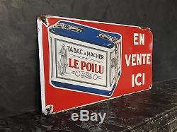 Tabac A Macher Le Poilu Plaque Pas Courante Belgique 1934