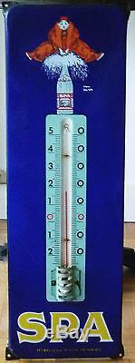 Thermomètre SPA plaque émaillée publicitaire
