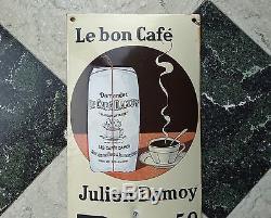 Thermomètre émaillé Café Julien Damoy 1930