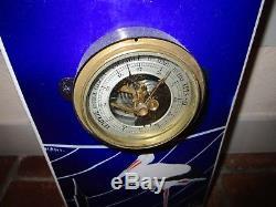 Thermomètre Baromètre plaque émaillée bombée potasse d'Alsace HANSI