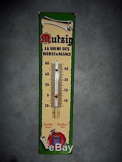 Thermometre Émaillé Bière Mutzig En Bel État Emaillerie Alsacienne Strasb