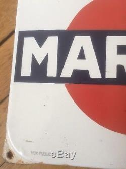 Thermomètre Plaque Émaillée Martini Vox Publicité Ancien Manque Tube