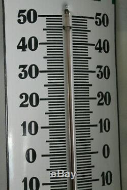 Thermometre castrol bombé vert top état avec sa pastille, Japy, garage, bidon