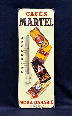 Thermomètre émaillé CAFÉS MARTEL Moka dArabie / ÉTAT TOP.