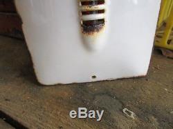 Thermomètre émaillé CASTROL bombé