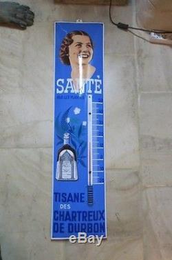 Thermometre émaillé TISANE DES CHARTREUX