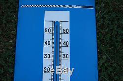 Thermomètre plaque émaillée Pneus V10 GT KLEBER. 1960 Bon état