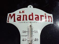 Thermomètre publicitaire le mandarin émaillé