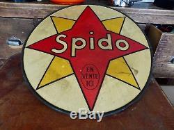 Tôle Bombée Huile Spido 1930 Bidon Can Oil Champion-paris