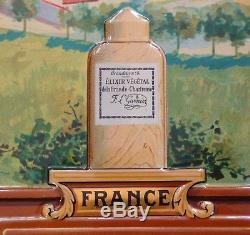 Tole Litho Grande Chartreuse Lithographiee Ancienne Liqueurs Elixir Garnier Old