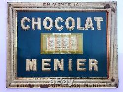 Tole Lithographie Gauffrée Chocolat MENIER