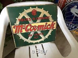 Tôle Peinte Mc Cormick bon état 38 x 40 Cm