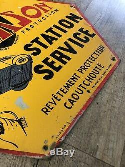 Tole Peinte Publicitaire No Plaque Emaillee Blackson Station Service