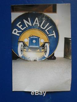 Tole Peinte Renault Automobile Annees 20/30 Tres Rare