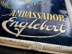 Tole Pneu Englebert Ambassador Années 40 Signée Massa Automobile Ancienne