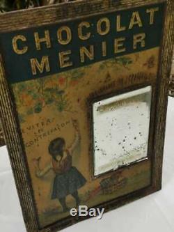 Tole ancienne Chocolat MENIER Signée FIRMIN BOUISSET