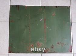 Tole ancienne caisse en bois de bidon d huile HUILES RENAULT no plaque émaillée