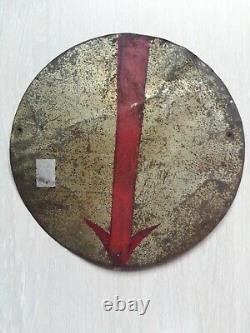 Tôle peinte 1920 La Vache Sérieuse, no plaque émaillée Enamel plate Vache Qui Rit