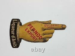 Toupie de comptoir ancienne tôle lithographiée PERNOD export Old metal top